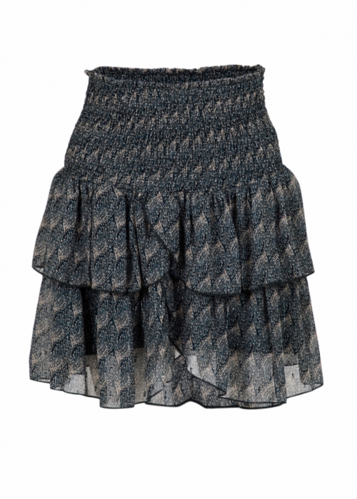 Carin feather skirt BLACK