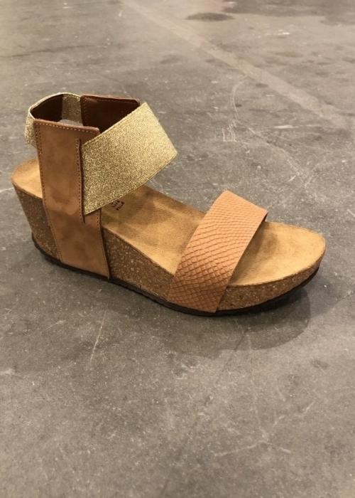 Daniela snake sandal COGNAC