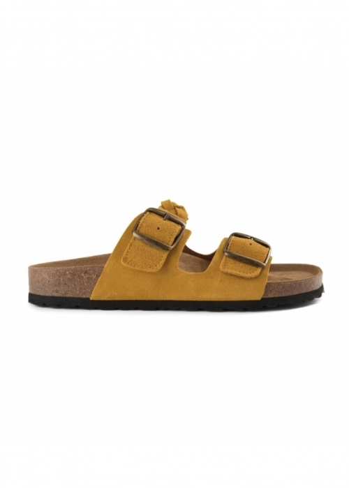 Cara suede slip in sandaler YELLOW