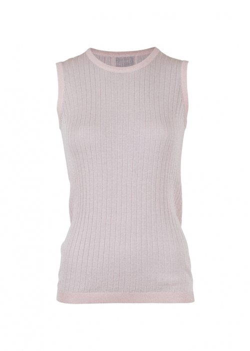 Ally solid knit waistcoat ROSE