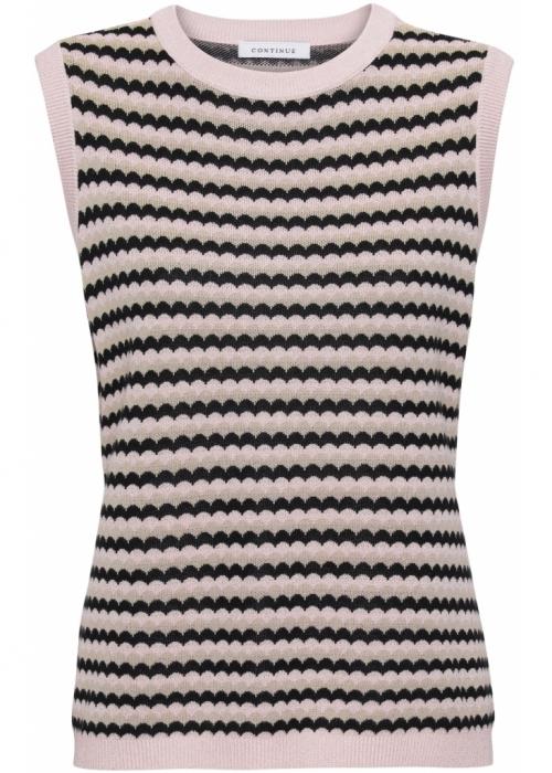 Nicko stripe vest BLACK/ROSE