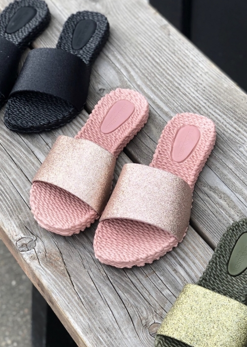Slippers med glitter ROSE