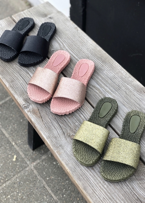 Slippers med glitter ARMY