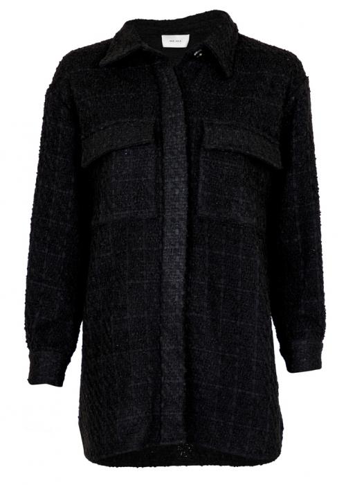Lin bouclé jacket BLACK