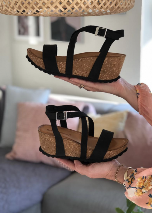 Laura nubuch sandal BLACK