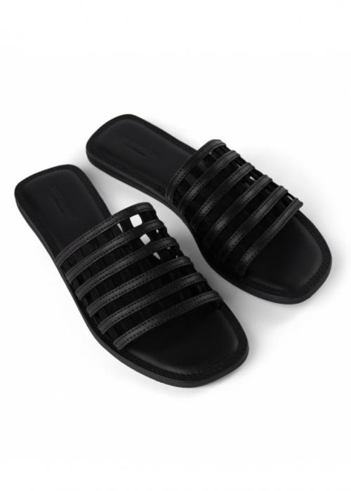 Tao cage slide sandal BLACK
