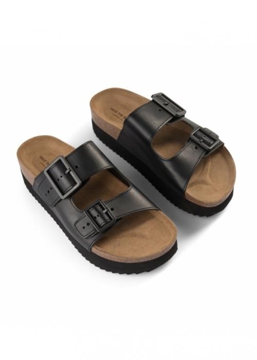 Cara platform slip-in sandal BLACK