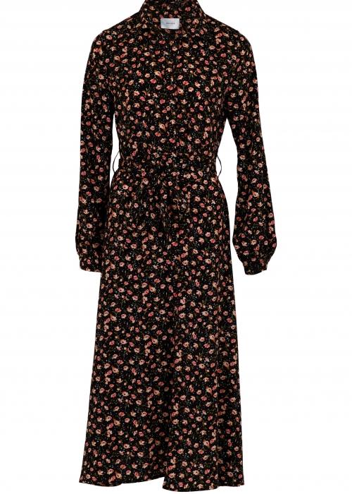 Vega single flower dress BLACK