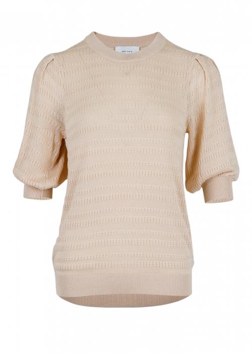 Bora stitch knit blouse SAND