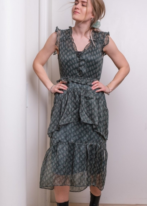 Selma dress DARK GREEN