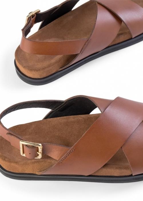 Famara cross sandaler COGNAC