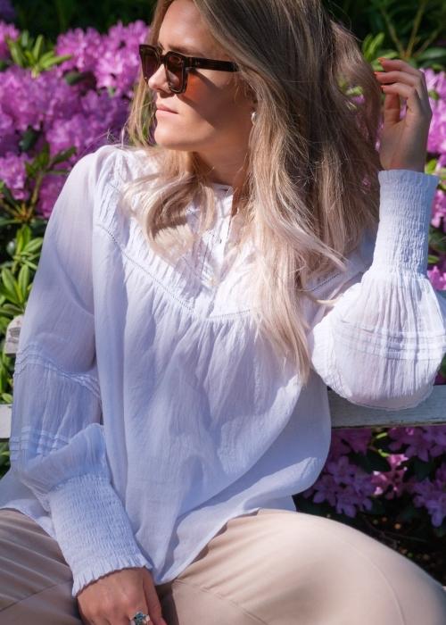 Felina Voile Blouse WHITE