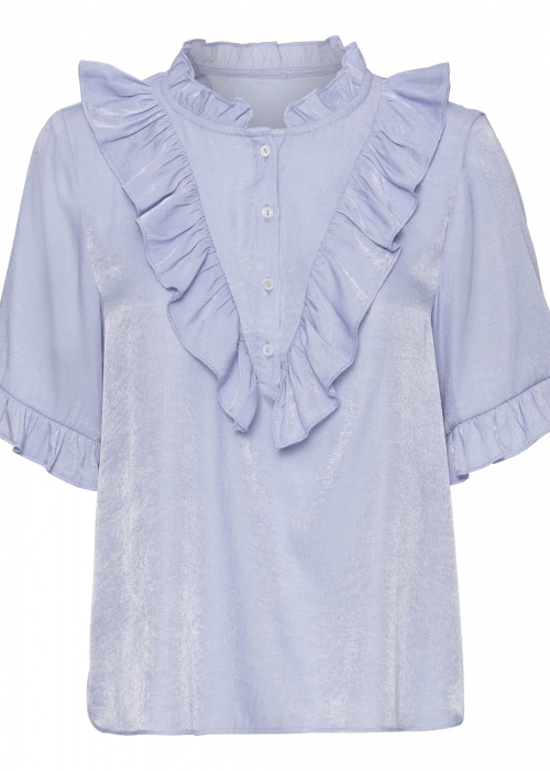 Amy 3/4 sleeve shirt LIGHT BLUE