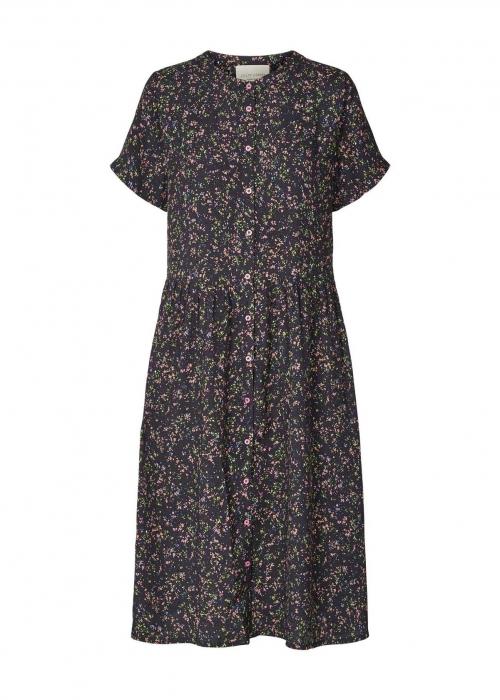 Aliya dress NAVY MULTI FLOWER PRINT