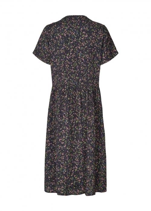 Aliya dress NAVY FLOWER PRINT