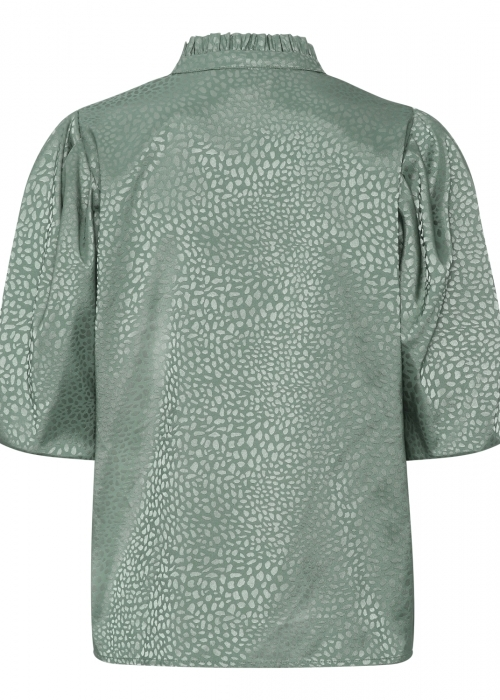 Lotus shiny blouse GREEN