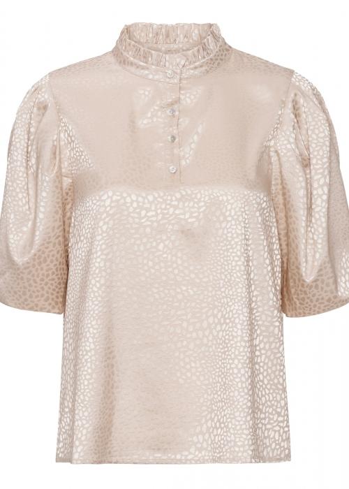 Lotus shiny blouse OFF WHITE