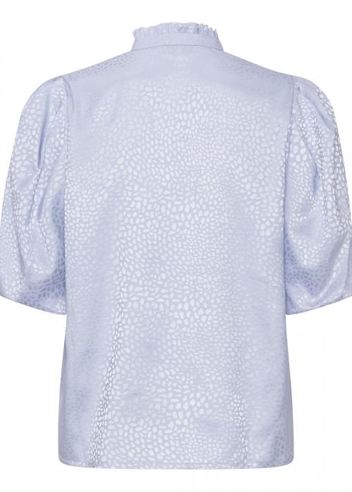Lotus shiny blouse LIGHT BLUE