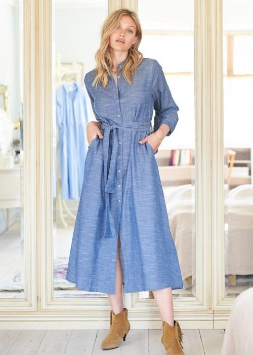 Nicole shirt dress BLUE