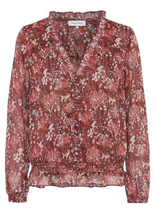 Betty blouse RUST FLOWER
