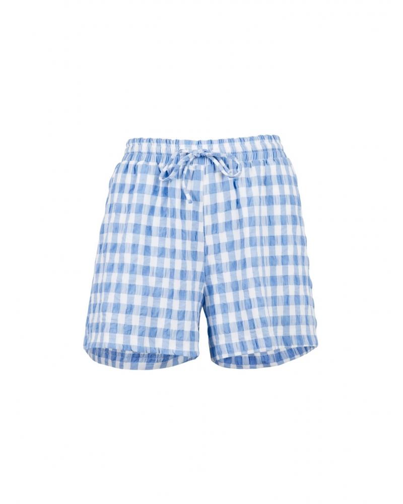 Abbigail summer check shorts LIGHT BLUE
