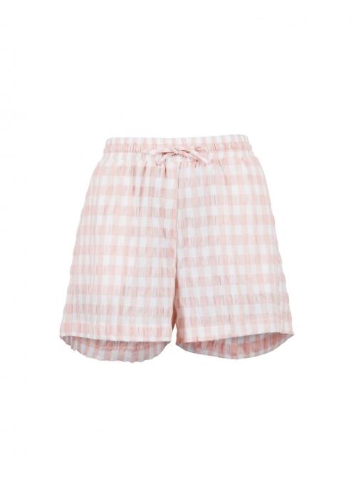 Abbigail summer check shorts LIGHT PINK