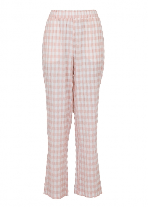 Zena summer check pants LIGHT PINK