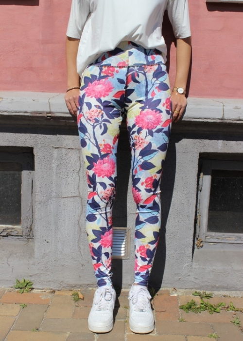 Nicole Leggings WHITE FLOWER