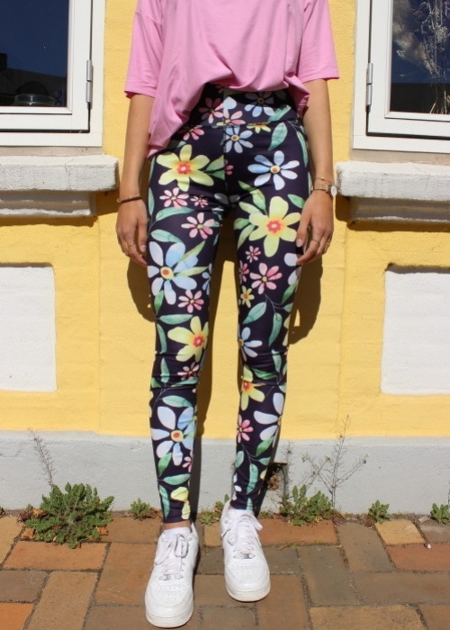 Nicole Leggings NAVY FLOWER