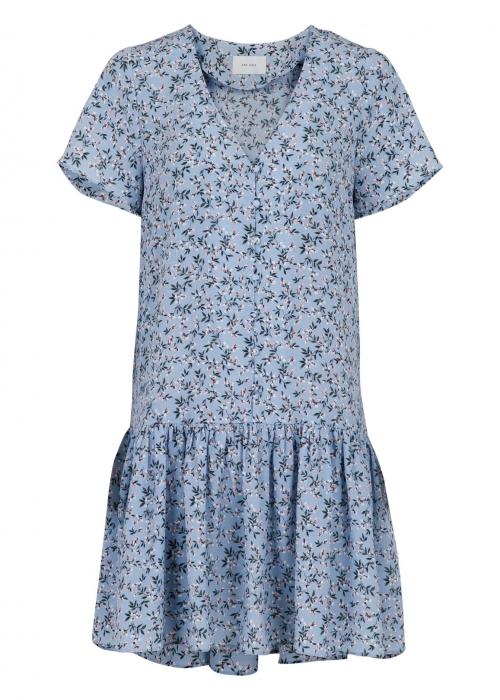 Ilsa spring flower dress LIGHT BLUE