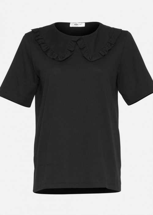 Mo alva collar tee BLACK