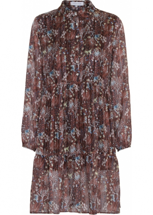 Jordan dress RUST FLOWER