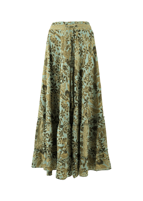 Luna frill maxi skirt FOREST FLOWER