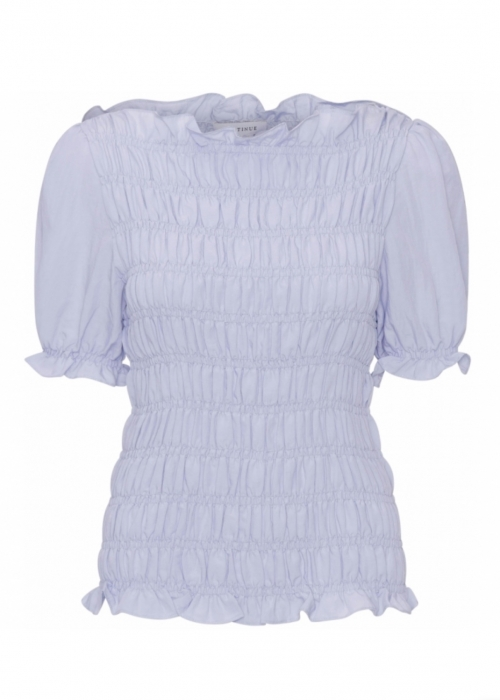 Julia ss smock top LIGHT BLUE