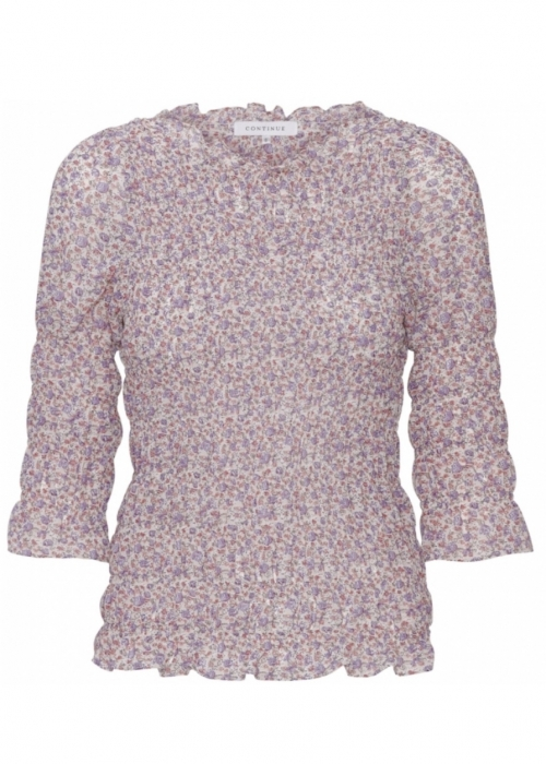 Julia smock top PURPLE SMALL FLOWER
