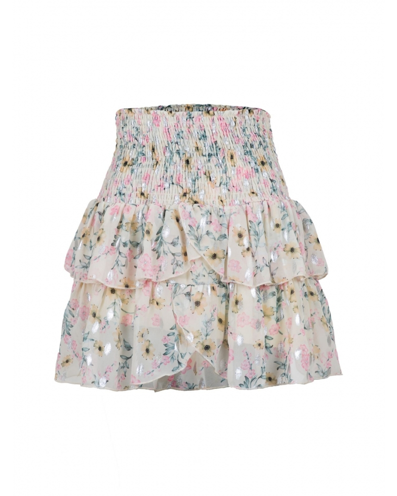 Carin dreamy flower skirt CREME