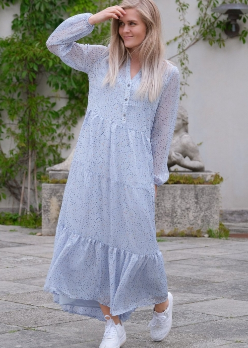 Nobis sparkle dress LIGHT BLUE