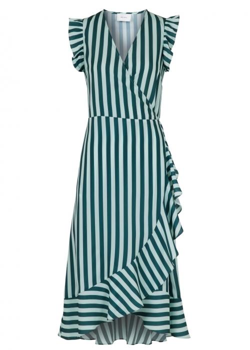 Manda broad stripe dress GREEN