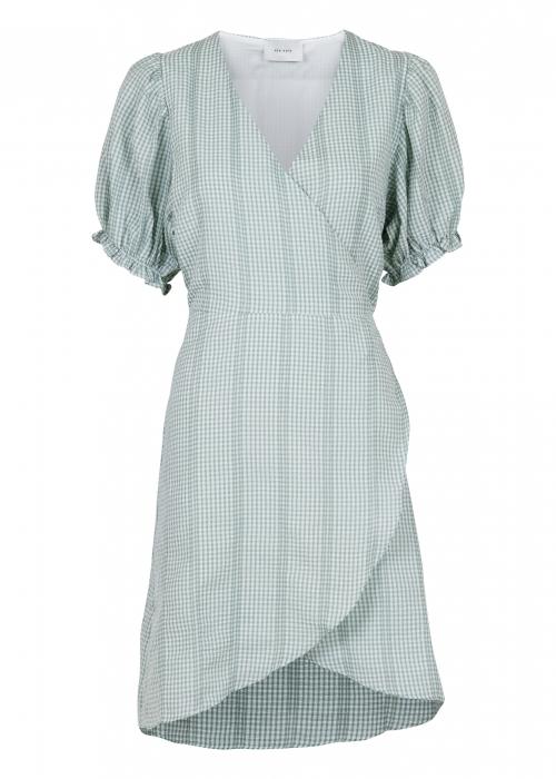 Spang mini check dress GREEN