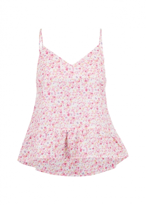 Airlia summer floral top LIGHT PINK