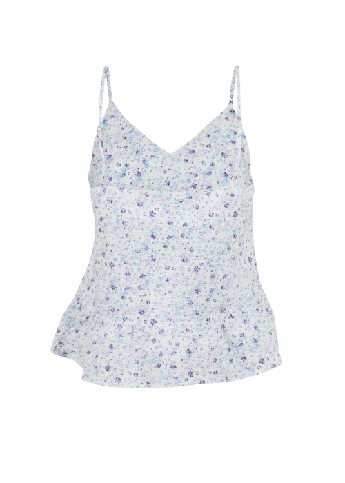 Airlia summer floral top LIGHT BLUE