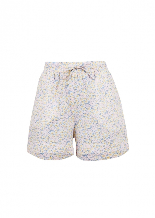 Abbigail summer floral shorts LIGHT BLUE