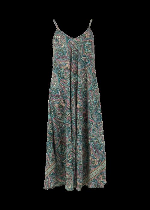 Luna strap dress TORQUISE FLORAL