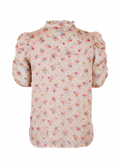 Pepe dobby flower blouse POWDER