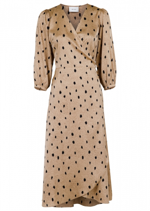 Pernille feather dress CAMEL