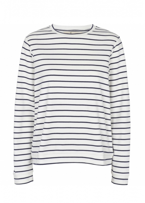 Dotte striped sweat OFF WHITE/NAVY