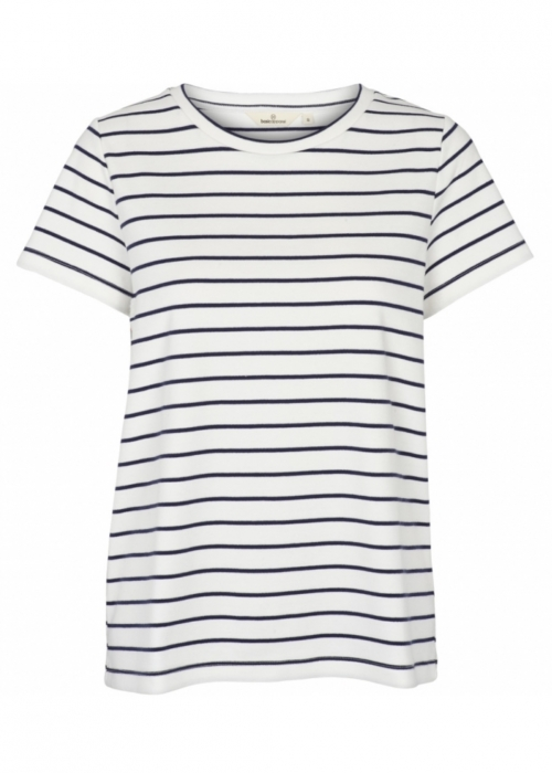Dotte striped tee OFF WHITE/NAVY