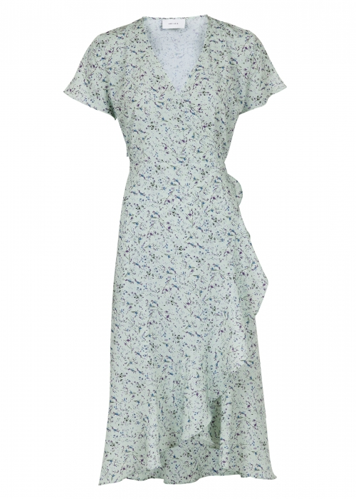 Magga abstract flower dress MINT