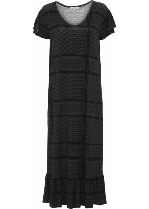 Frida partisan dress GREY/BLACK