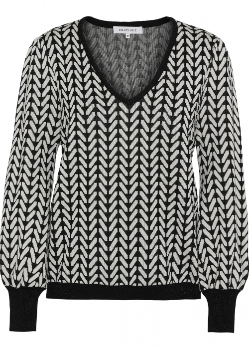 Merle knit BLACK/WHITE